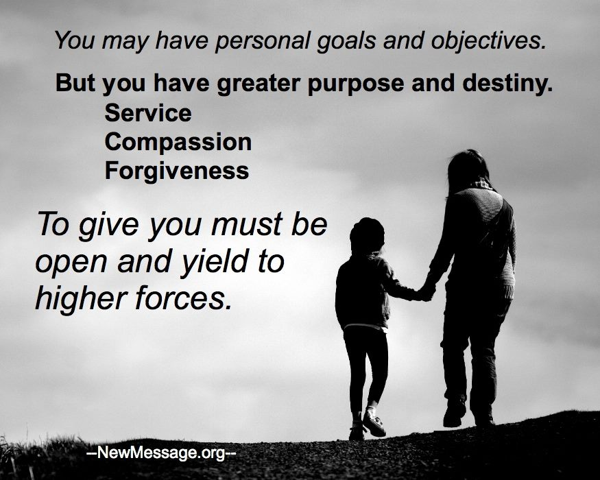 Greater Purpose and Destiny