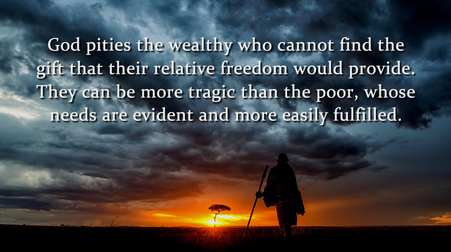 To end poverty within yourself